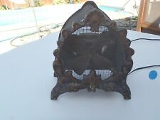 Antique Cast Iron, Metal and Wood fan
