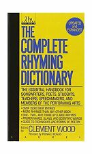 The Complete Rhyming Dictionary: Including The Poet's Craft Book Free Shipping