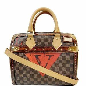 LOUIS VUITTON  Time Trunk Speedy 25 Bandouliere Damier Shoulder Bag Black
