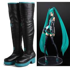 Handmade Vocaloid Hatsune Miku Custom Made Cosplay Boots Cos Costume Shoes