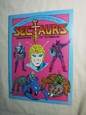 VINTAGE MARVEL BOOKS SECTAURS STICKER FUN 1980'S RARE TOY FIGURE NM+