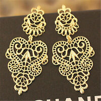 Fashion Bohemian Women's Vintage Long Tassel Hollow Boho Dangle Earrings Gift