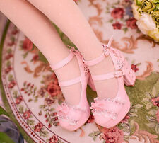 Ladies Sweet Lace Up Block Heel Lolita Open Toes Ankle Strap Platform Shoes New