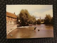 Salisbury Cathedral, from Harnham Mill - Vintage Postcard