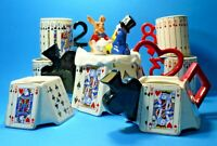 VINTAGE RARE CARDEW MAD HATTER TEAPOT EARLY EDITION MILK SUGAR 4 MUGS SOUTHWEST