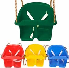 Childrens Rope Swing Kids Toddler Adjustable Outdoor Garden Bucket Safety Seat