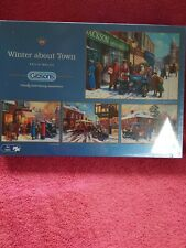 Gibsons Winter about Town - 4 x 500 piece Jigsaw Puzzles by Kevin Walsh NEW