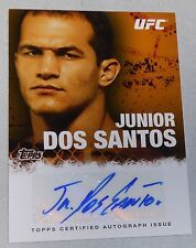 Junior Dos Santos Signed UFC 2010 Topps Card #FA-JDS Autograph 90 160 Fox 1 166