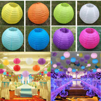 "6""8""10""12""14"" 1/5Pcs Round Hanging Chinese Paper Lanterns Home Party Decoration"