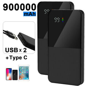 Power Bank 900000mAh Portable Charger USB-C Input for iPhone Samsung Huawei