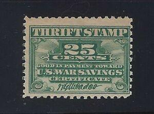 WS1 - 25c War Savings Thrift Stamp Mint NH Cat $30 (Stk4)