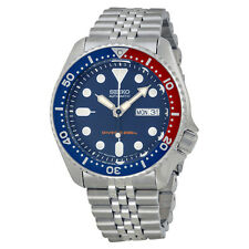 Seiko Diver Steel Blue / Red Mens Watch SKX175