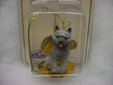 Cairn Terrier gray dog Angel Ornament Handpainted Figurine Christmas Collectible