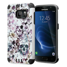Hybrid Dual Layer Armor Case for Samsung Galaxy S7 - Messy Skull