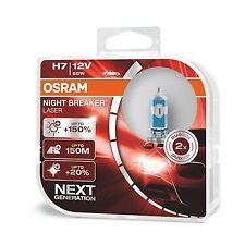 Coppia Lampade Lampadine Alogene OSRAM NIGHT BREAKER LASER H7 px26d +150% 150Mt
