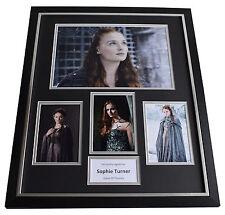 Sophie Turner SIGNED Framed Photo Autograph Huge display Game of Thrones TV COA
