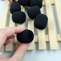 10PCS Microphone Headset Grill Windscreen Sponge Foam Pad Black Mic Cover Hot