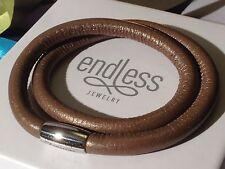 Endless Jewelry J.Lopez 36cm  Bronze Bracelet Double Strand Silver Clasp rrp £55