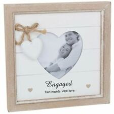 Provence Message Heart Photo Frame - Engaged