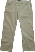 New Mens Marks & Spencer Beige Regular Fit Trousers Waist 40 Leg 28 LABEL FAULT