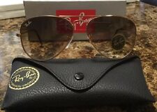 RayBan Ray-Ban Aviator Gold Frame Gradient Brown Lens RB3025 001/51 62MM NEW