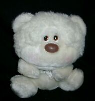"""7"""" VINTAGE 1985 COCO WHITE TEDDY BEAR SPECIAL EFFECTS STUFFED ANIMAL PLUSH TOY"""