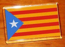 Catalonia independence Estelada Blava flag Catalunya Catalan fridge magnet