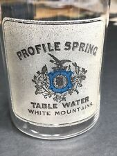 Color Acid Etched Glass Profile Spring Water White Mountains Not Beer C1900