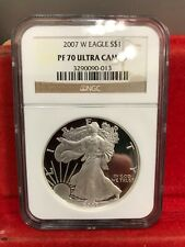2007-W 1oz Proof American Silver Eagle NGC PF 70 Ultra Cameo