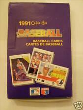 1991 O-Pee-Chee Premier Baseball Cards