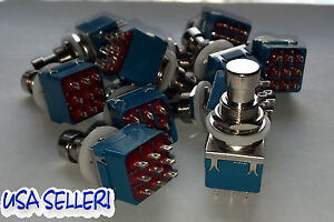 TRUE BYPASS SWITCH 3PDT x QT= (1)  ROHS ~ US SELLER!!!!!!  FAST USA SHIPPING