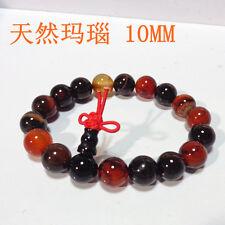 Stretchy Tibetan 19 10mm Colorful Agate Meditation Prayer Beads Mala Bracelet