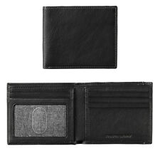 Johnston & Murphy Men's RFID Leather Slimfold Wallet Black 46-13001