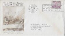 1933 Chicago Worlds Fair-Century of Progress Event Cover to Phila PA (Scott 729)