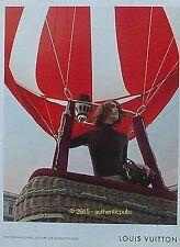 PUBLICITE LOUIS VUITTON SAC INITIATION AU VOYAGE MONTGOLFIERE DE 2012 FRENCH AD