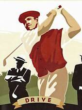 Vintage Golf Posters - ONLY $6 - Wallpaper Borders 615