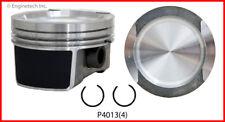 Engine Piston Set-GAS, SOHC, FI, Natural, Volkswagen, 8 Valves ENGINETECH, INC.