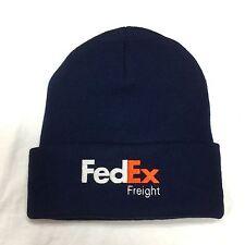 New FedEx Freight Beanie Hat Decky Custom Embroidery Cuffed Knit NAVY