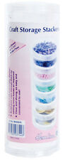 Small Craft Storage Stackers Pack of 6 Stackers. Store  Beads, Sequins