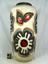 "70´s "" Flower Power "" design Scheurich pottery  Keramik vase 517 45"