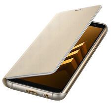 Samsung Neón Funda ef-fa530ple Galaxy A8 2018 a530f Bolsa Gold NUEVO