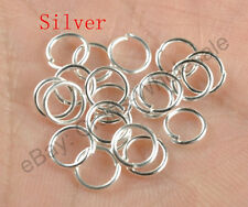 Silver Gold Pewter Plated Open Split Jump Rings Connectors Jewelry Make Findings