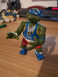 1992 Teenage Mutant Ninja Turtles track n Field olympic Leonardo Tartarughe
