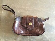 STYLISH TED BAKER BROWN CLUTCH WRISTLET BAG USED TWICE GREAT CON