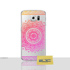 Mandala Coque/housse Samsung Galaxy S6 Edge Protection Écran/solaire orange-rose