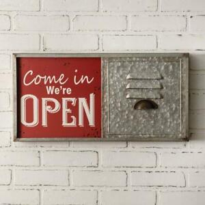 Hanging Metal  OPEN / CLOSE  Sign Retail Office Service Business Signs