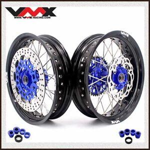 "VMX 3.5/5.0*17"" Supermoto Wheels Set Fit FE FC 250 350 450 2004-2014 Black Rim"