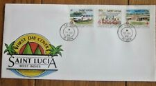 SAINT LUCIA  RED CROSS 125 YEARS AT WORK IN SAINT LUCIA 1989  SET FDC