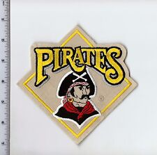 "Vintage 1990s Pittsburgh Pirates 5.75"" H Patch Throwback Old Logo Iron or Sew On"