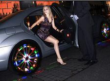 4pcs 13 modalità 12 LED Auto Auto Solar Pneumatico Della Ruota Energy Flash Lampada vedere video